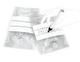 Bolsas de plástico transparentes con cierre ZIP y franjas blancas